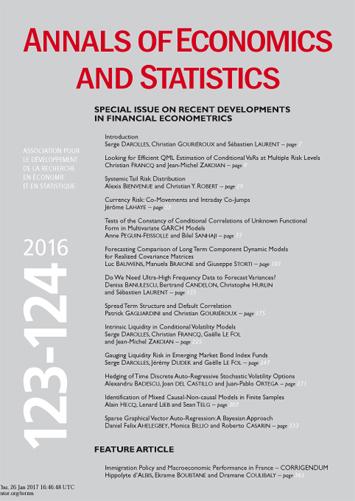 Annals of Economics and Statistics