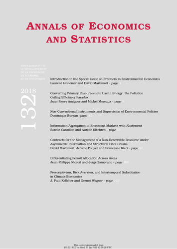 Annals of Economics and Statistics